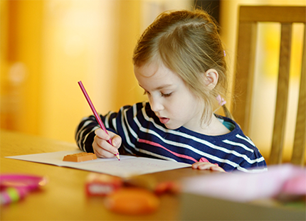 child drawing creative things
